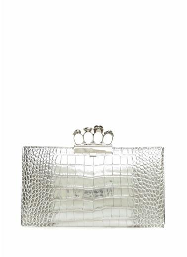 Alexander McQueen Clutch / El Çantası Gümüş